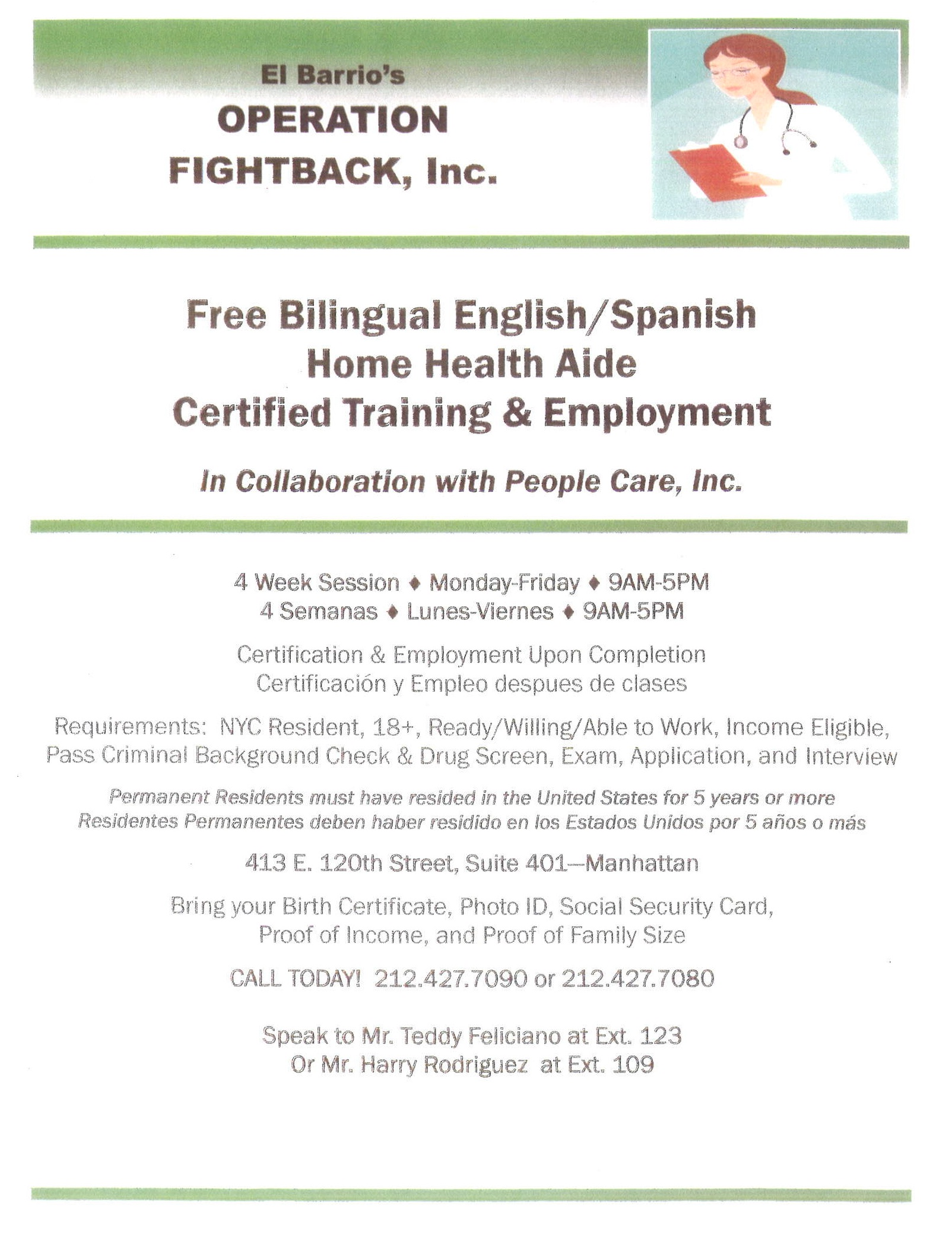 Nyc Home Health Aide Free Training For Spanish Diigo Groups