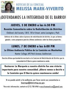 Districting Flyer - Spanish