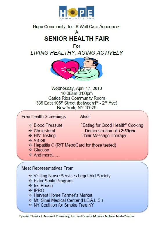 snr health fair