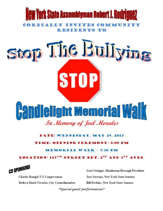 Stop the Bullying Flyer